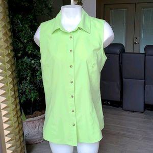 Gander Mountain Lime Green Button Top